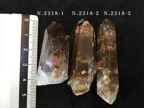 ファントム水晶ポイント(マロン)20g No,2318