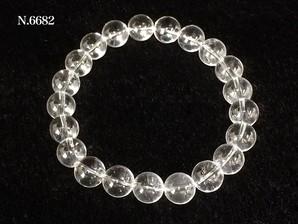 単色ブレス 水晶AAA No,6682