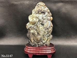 龍彫り物 ラブラドライト No,5147