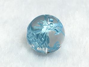 水晶龍彫りパーツ(ブルー)