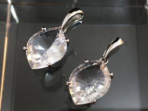 水晶カットPT(SV925)11×15mm  No,4377