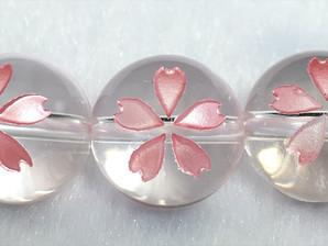 水晶桜彫り(花びら)10mm、12mm