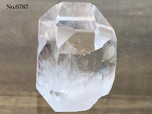 ナチュラル水晶ポイント底辺カット 約250g No,6787     ¥2,500⇒¥1,750【おまとめ割対象外】