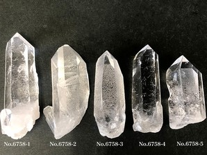 ナチュラル水晶ポイント 約20g No,6758