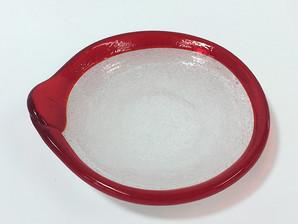 琉球ガラス(浄化皿)赤