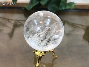 ヒマラヤ水晶丸玉 約110g No,6483