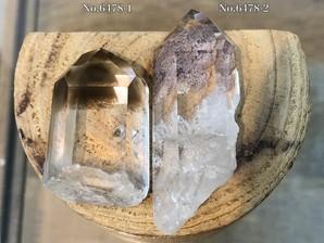水晶ポイント (マロン)30g No,6478