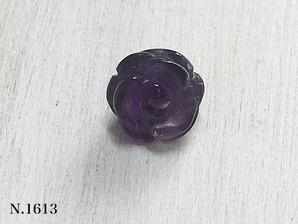 バラ型パーツ アメジスト 10mm
