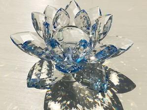 サンキャッチャー置物(蓮)大 ブルー