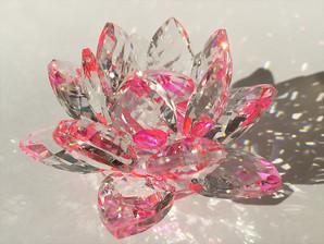 サンキャッチャー置物(蓮)   ピンク