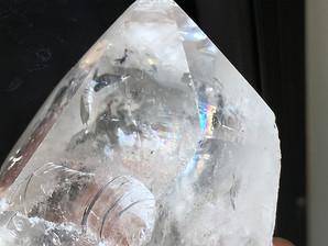 水晶ポイント(レインボー)約83g (RB-6)
