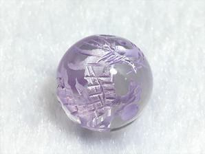 水晶龍彫りパーツ(パープル)