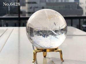 レインボー水晶丸玉 51mm  約240g No,6428
