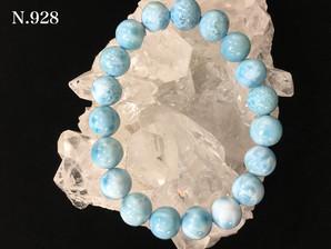 ラリマーブレスレット(AA) 9,6~10,3mm 29,0g 19玉     No,928