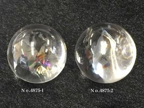 レインボー水晶丸玉マダガスカル産  No,4875