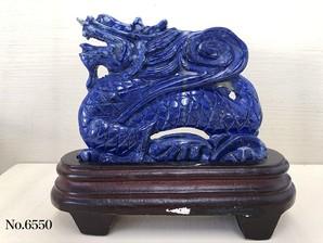 龍彫り物 ラピスラズリ No,6550