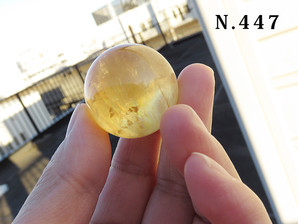 ゴールデンカルサイト 丸玉 30mm 40g No,447