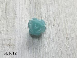 バラ型パーツ アマゾナイト 10mm