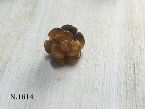 バラ型パーツ タイガーアイ 12mm