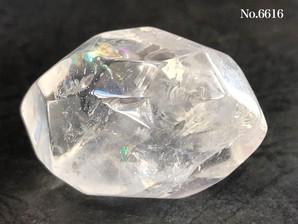レインボー水晶フリーカット No,6616