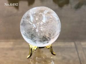 ヒマラヤ水晶丸玉 約80g No,6492