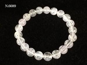 単色ブレス 合成スノーフレーク水晶 No,6689