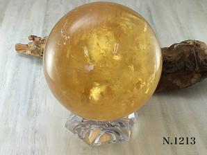 ゴールデンカルサイト丸玉 中国産 約101mm 約1710g