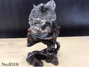 龍彫り物 スモーキークオーツ No,6318