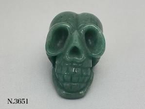 天然石彫物 スカル アベンチュリン No,3651
