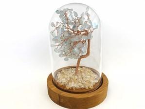 ストーンツリー (ガラス蓋付)アクアマリン