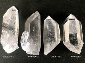 ナチュラル水晶ポイント 約20g No,6756